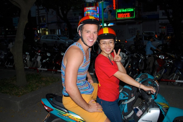 Meet Miss Tam - She's awesome at weaving in and out of the crazy traffic in Saigon!